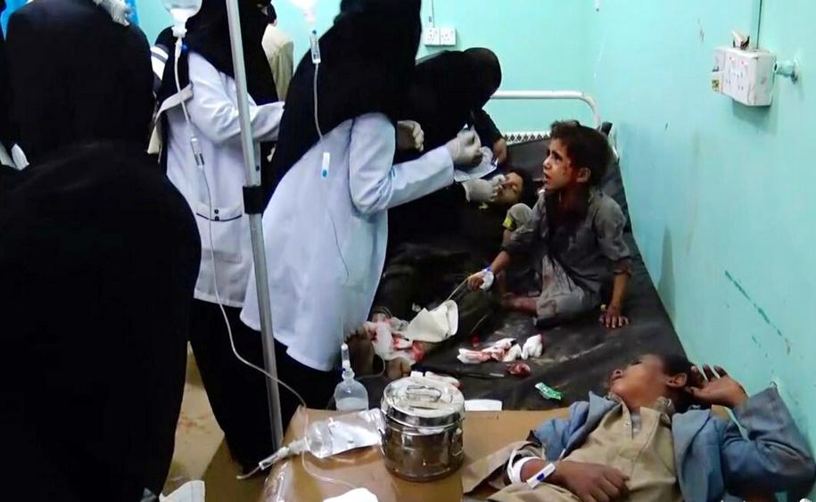 Ofiary ataku to głównie dzieci /HOUTHI MOVEMENT HANDOUT /PAP/EPA