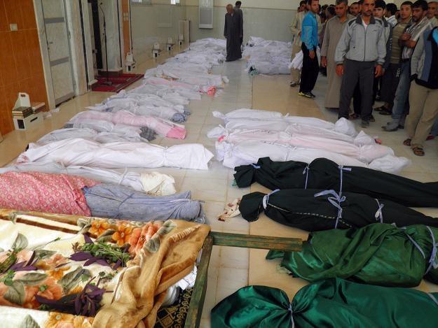Ofiary masakry w Hula /AFP
