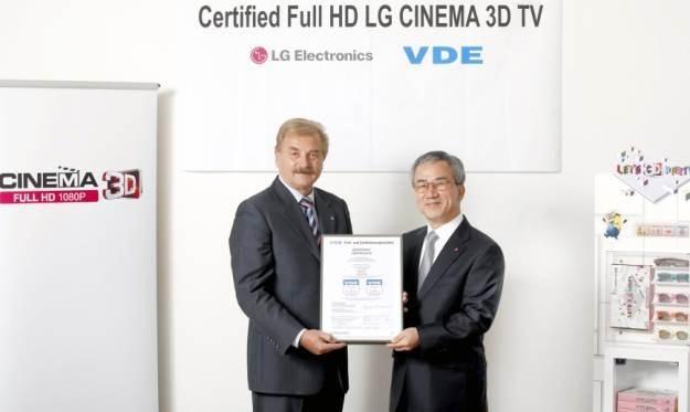 Oficjalny certyfikat gwarantujący uzyskanie obrazu FULL HD w trybie 3D /materiały prasowe