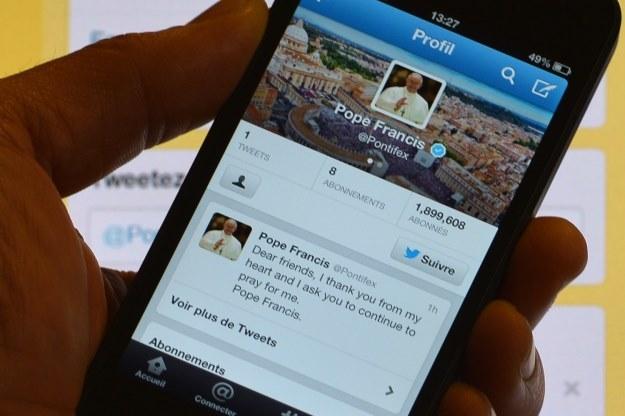 Oficjalny profil papieża na Twitterze /AFP