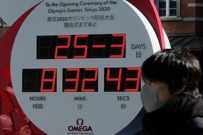 Oficjalny zegar Tokio 2020 przestał odliczać czas do rozpoczęcia igrzysk, a zaczął pokazywać aktualną datę i czas /AFP