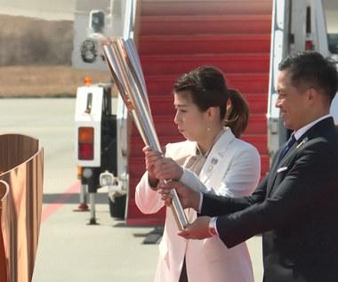 Ogień olimpijski przekazany Japonii. Wideo