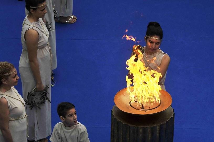 Ogień olimpijski zostanie wzniecony w ruinach świątyni Hery w starożytnej Olimpii na Peloponezie 29 września /AFP