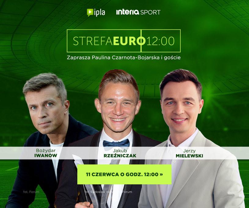 """Oglądaj codziennie nasz program """"Strefa Euro 12:00"""" /INTERIA.PL"""
