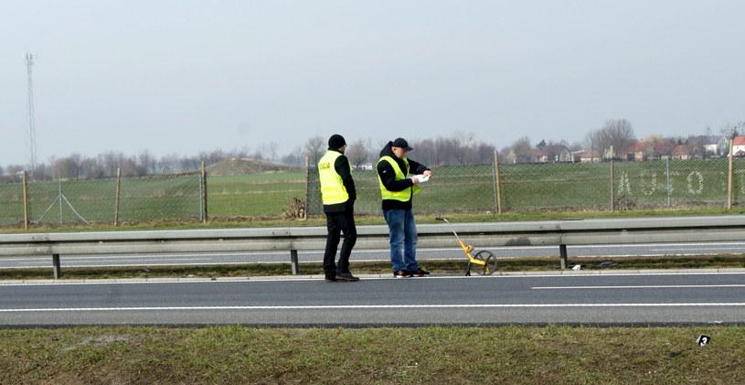 Oględziny na autostradzie A4 w okolicach Lewina Brzeskiego /Brzeg24 /PAP