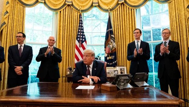 Ogłoszenie porozumienia w Białym Domu / Anna Moneymaker / POOL /PAP/EPA