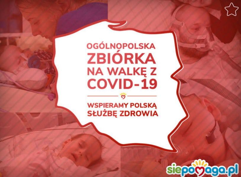 Ogólnopolska zbiórka na wsparcie służby zdrowia w walce z koronawirusem /siepomaga.pl /