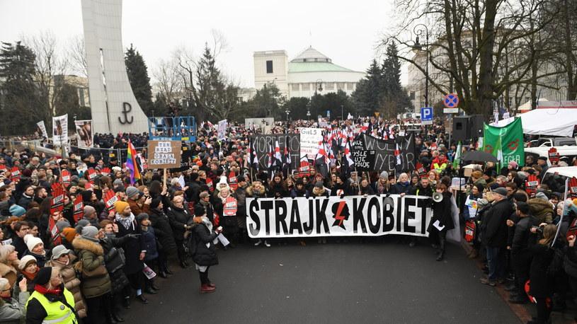 Ogólnopolski Strajk Kobiet /Radek Pietruszka /PAP