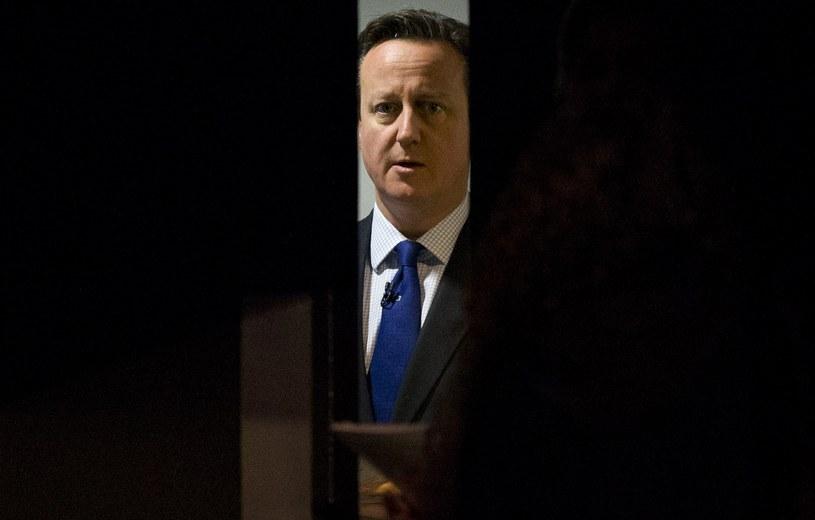 Ograniczenia w zasiłkach popiera premier David Cameron /AFP