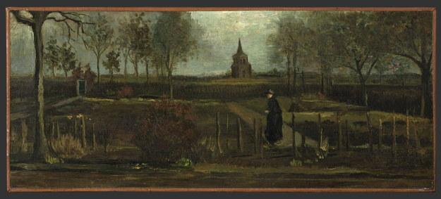 """""""Ogród przy plebanii w Nuenen wiosną"""" Vincent van Gogh namalował w 1884 roku /Marten de Leeuw /PAP/EPA"""