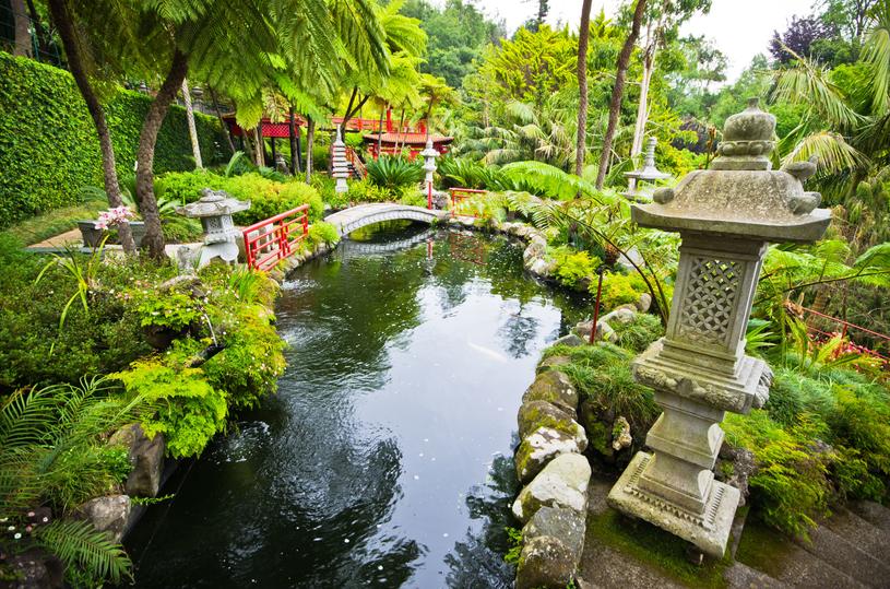 Ogród tropikalny Monte Palace w Funchal jest unikalnym połączeniem parku z wystawą sztuki i Disneylandem. Na jego zwiedzanie warto przeznaczyć co najmniej kilka godzin /123RF/PICSEL