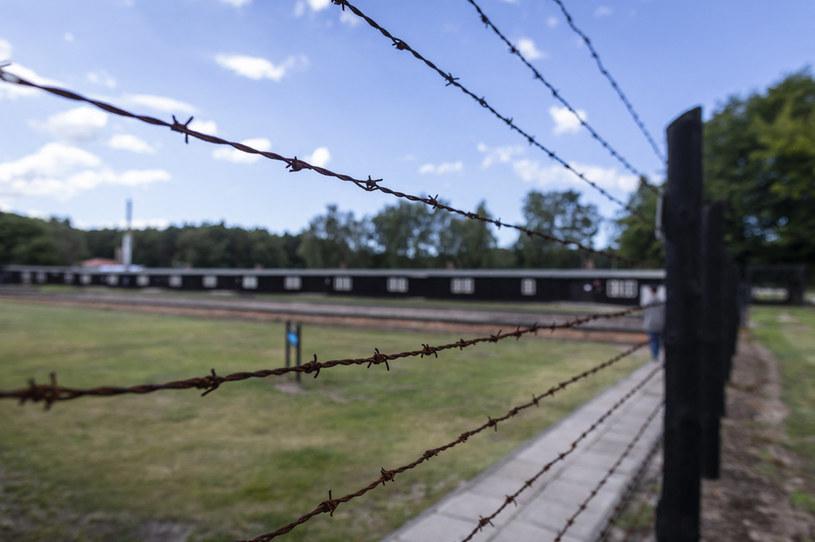 Ogrodzenie z drutu kolczastego w byłym obozie koncentracyjnym Stutthof /WOJTEK RADWANSKI / AFP /AFP
