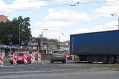Ogromne korki na dk 1 w Łodzi