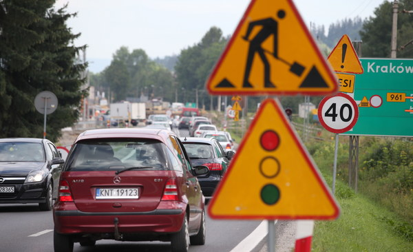 Utrudnienia związane są z budową węzła drogowego w Poroninie k. Zakopanego.