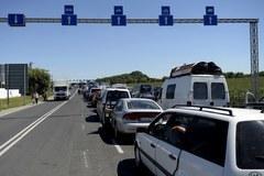 Ogromny korek do przejścia granicznego w Medyce