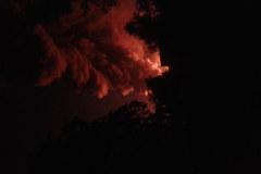 Ogromny pożar składowiska odpadów z Zgierzu