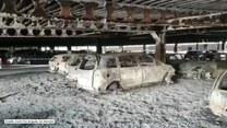 Ogromny pożar w centrum handlowym. Ogień strawił 60 pojazdów