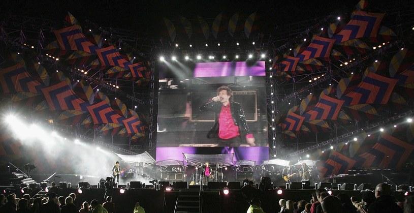 Ogromny telebim był stałym elementem trasy The Rollings Stones /MARTY MELVILLE /Getty Images
