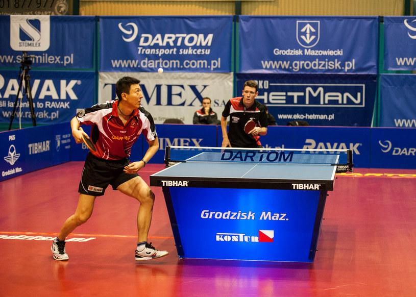 Oh Sang Eun w meczu z Enzo Anglesem /Fot. Marcin Masalski/Bogoria /Informacja prasowa
