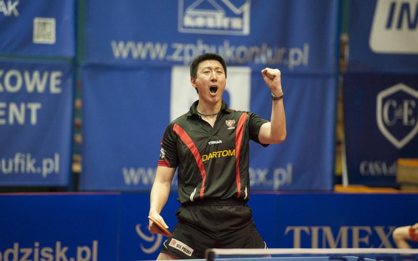 Oh Sang Eun zdobył dwa punkty dla Bogorii /Fot: Marcin Masalski /Informacja prasowa