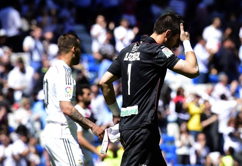 Oier w barwach Granady po meczu z Realem Madryt na Estadio Santiago Bernabeu /AFP