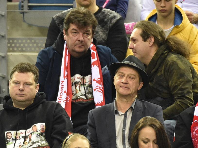 Ojciec Agnieszki Radwańskiej, Piotr (w środku) ogląda z trybun jej spotkanie ze Swietłaną Kuzniecową /Jacek Bednarczyk /PAP