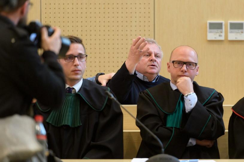Ojciec Ewy Tylman na sali sądowej podczas rozprawy /Jakub Kaczmarczyk /PAP