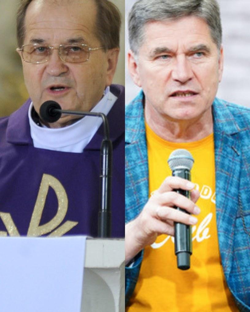 Ojciec Tadeusz Rydzyk i Sławomir Świerzyńśki /ForumGwiazd.com.pl   /Agencja FORUM
