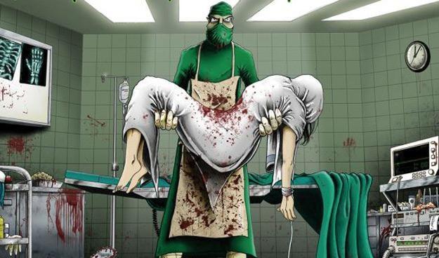 "Okładka albumu ""Hospital Carnage"" grupy Haemorrhage /"