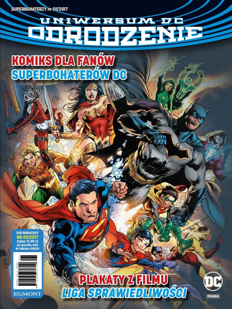 Okładka albumu Superbohaterzy - Uniwersum DC Odrodzenie /materiały prasowe