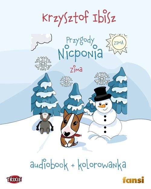 """Okładka audiobooka """"Przygody Nicponia - ZIMA"""" /materiały prasowe"""
