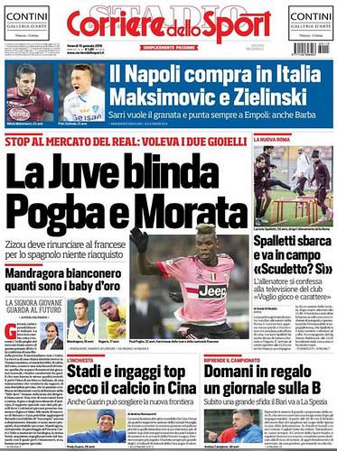 Okładka Corriere dello Sport /INTERIA.PL