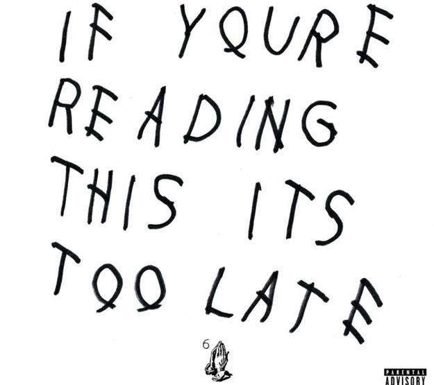 "Okładka Drake ""If You're Reading This It's Too Late"" /"