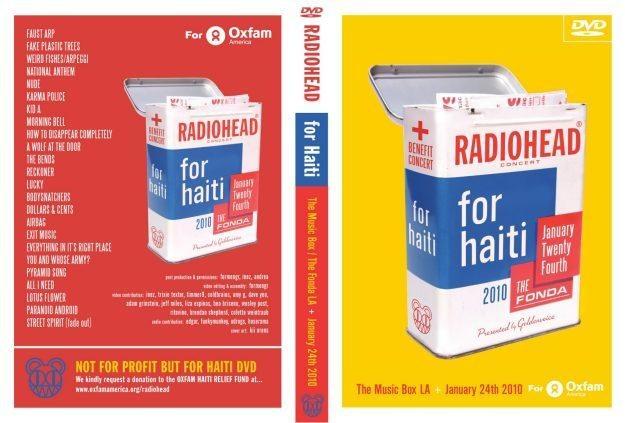 Okładka DVD koncertu Radiohead z Los Angeles /