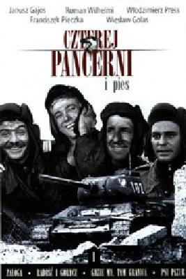"Okładka DVD serialu ""Czterej pancerni i pies"" /"
