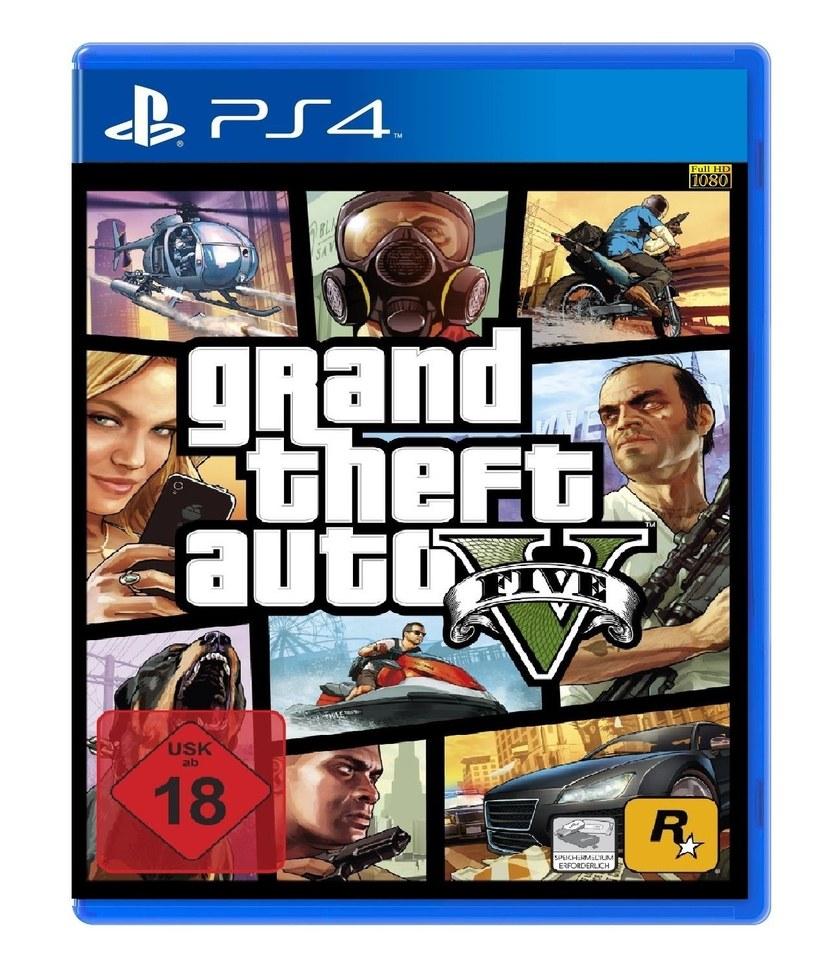 Okładka GTA V w wersji na PS4 - grafika dostępna była w ofercie niemieckiego oddziału sklepu Amazon /materiały prasowe