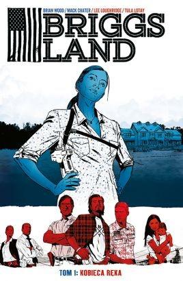 "Okładka komiksu ""Briggs Land - Kobieca ręka"" /materiały prasowe"