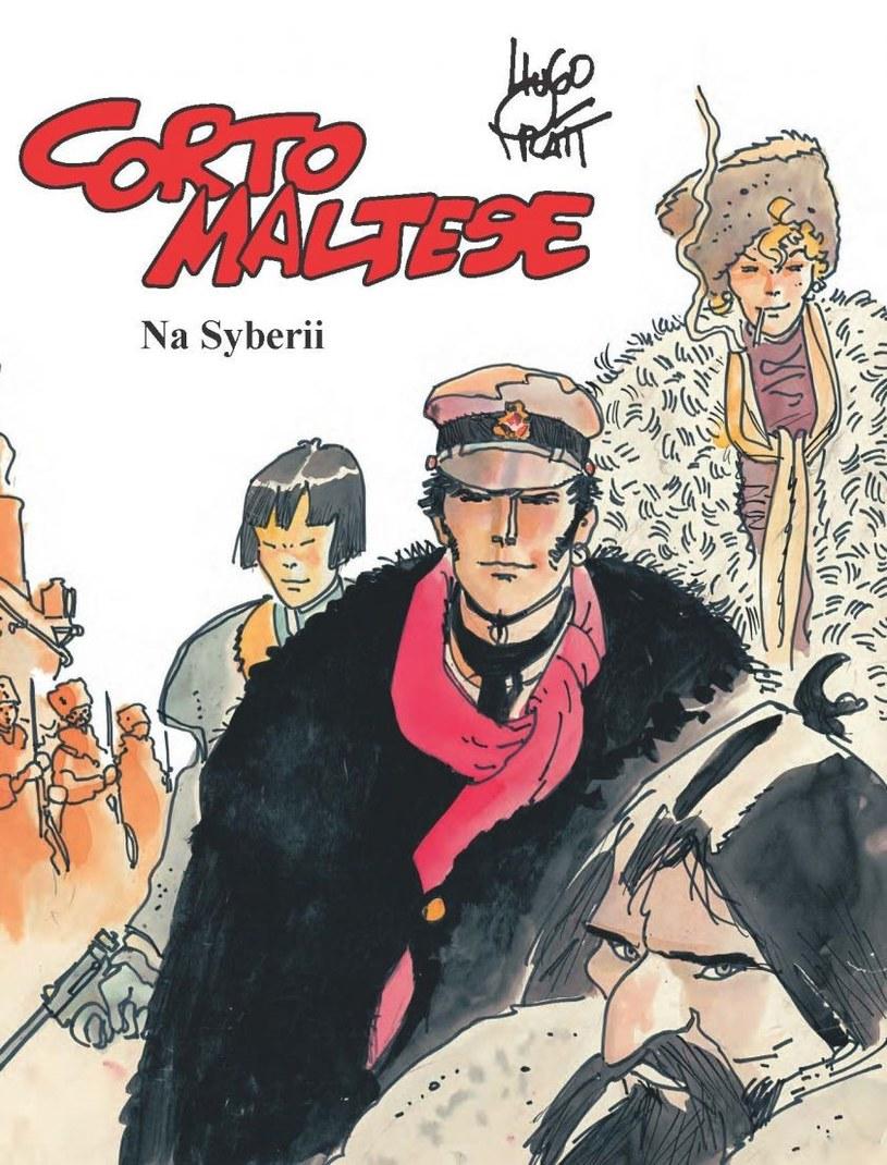 """Okładka komiksu """"Corto Maltese. Na Syberii"""" /materiały prasowe"""