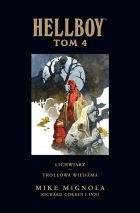 """Okładka komiksu """"Hellboy - Lichwiarz, Trollowa wiedźma, tom 4"""" /materiały prasowe"""