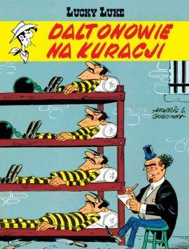 """Okładka komiksu """"Lucky Luke - Daltonowie na kuracji, tom 44"""" /materiały prasowe"""