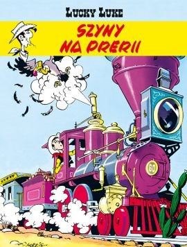 """Okładka komiksu """"Lucky Luke. Szyny na prerii"""" /materiały prasowe"""