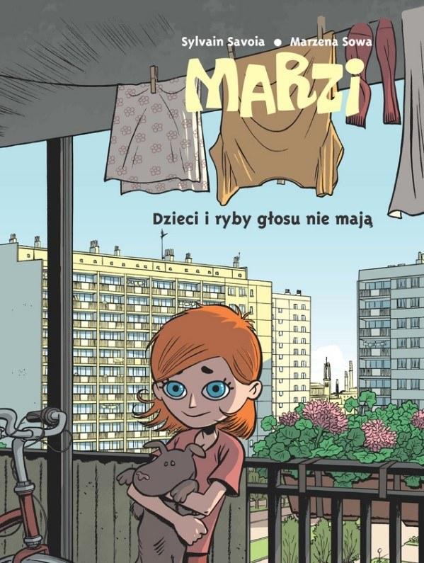 """Okładka komiksu """"Marzi. Dzieci i ryby głosu nie mają, tom 1"""" /materiały prasowe"""