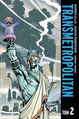"""Okładka komiksu """"Transmetropolitan, tom 2"""" /materiały prasowe"""