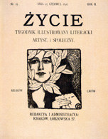 Okładka krakowskiego tygodnika literackiego ?Życie?, 1898 /Encyklopedia Internautica