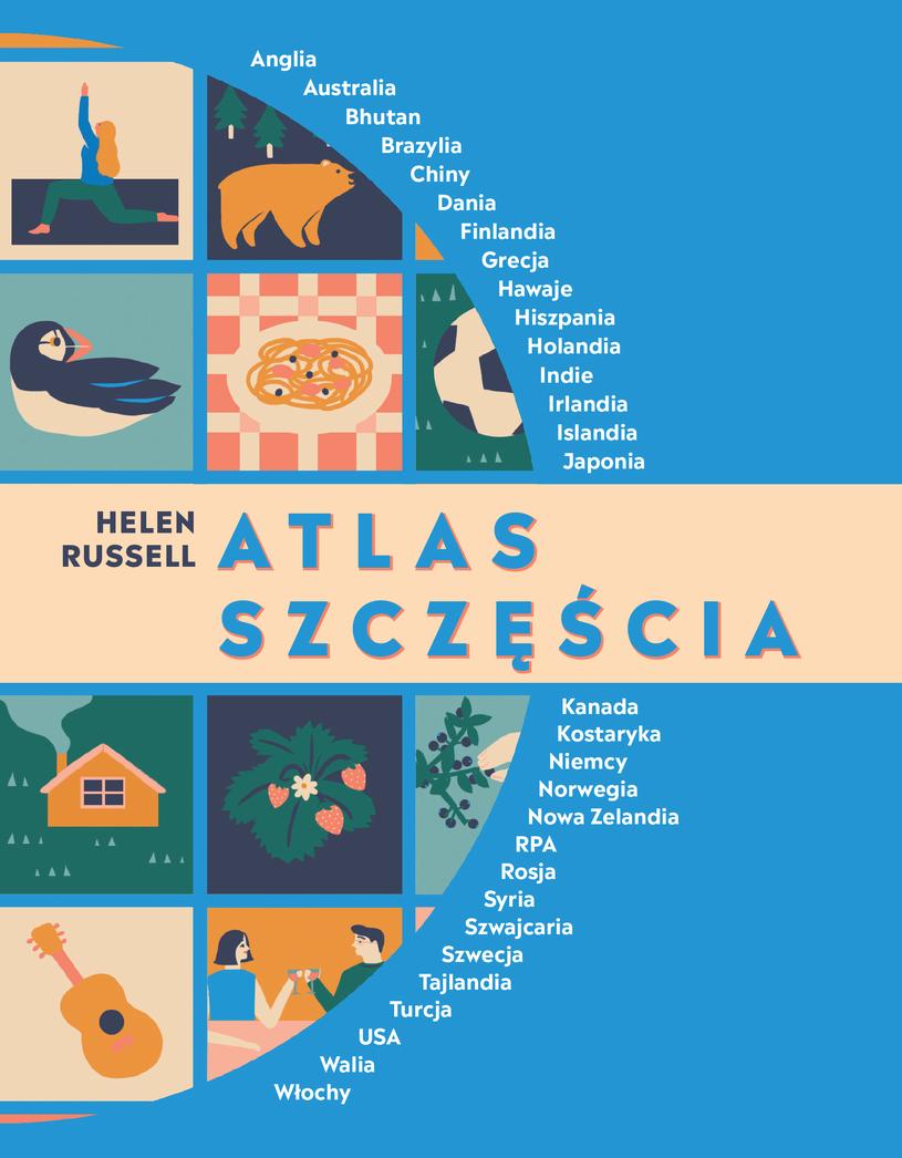 """Okładka książki """"Atlas szczęścia"""" /materiały prasowe"""