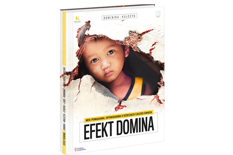 """Okładka książki """"Efekt dominia"""" Dominiki Kulczyk /materiały prasowe"""
