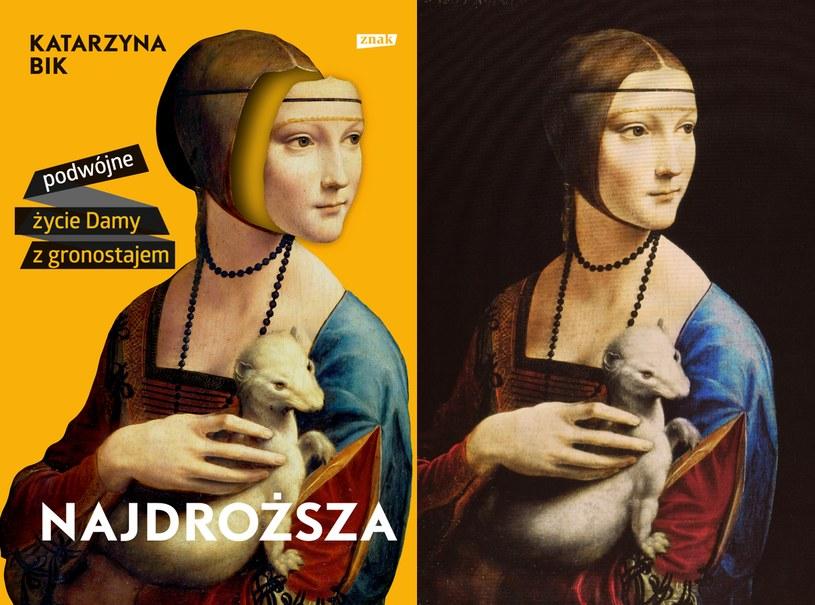 Okładka książki Katarzyny Bik i obraz Leonarda da Vinci /Splash News /East News