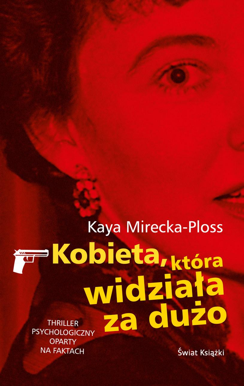 """Okładka książki """"Kobieta, ktróra widziała za dużo"""" /- /materiały prasowe"""