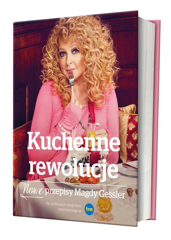 """Okładka książki """"Kuchenne rewolucje. Nowe przepisy Magdy Gessler"""" /materiały prasowe"""