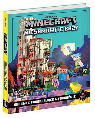 """Okładka książki """"Minecraft. Niesamowite bazy. Budowle pobudzające wyobraźnię"""" /materiały prasowe"""